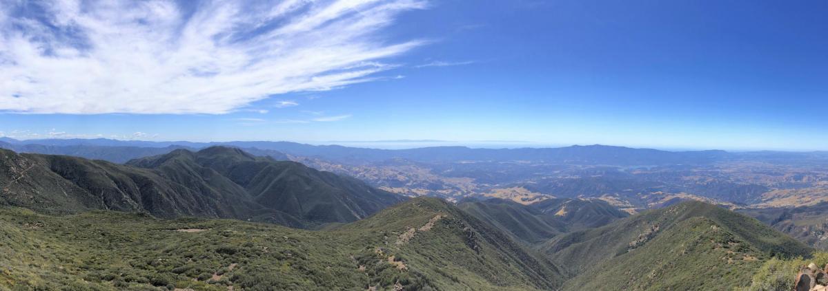 Simon's hiking photo somewhere near SB
